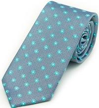 Slate Blue Gingham Tie