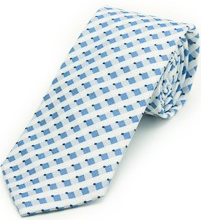 Slate Blue Square Pet Tie